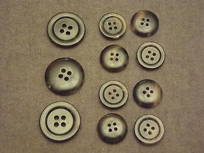 Authentic Brown Buffalo Horn Suit Jacket Button Set!!