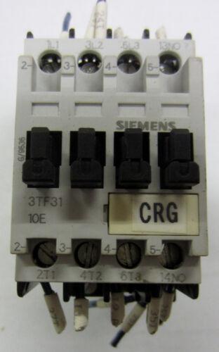 Siemens Contactor 3TF3110-0B 20a 600vac Used T//O