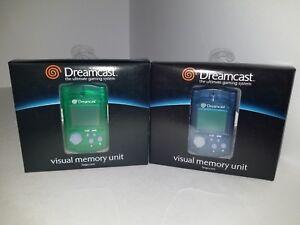 2-Original-Official-OEM-Sega-Dreamcast-Memory-Card-VMU-1-BLUE-amp-1-GREEN-CIB