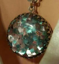 Cool Vintage 50's Confetti Lucite Reversible Necklace 256AG5