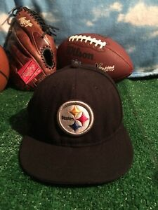 Pittsburgh Steelers Ball Cap Hat New Era 59Fifty-NFL On Field-Size 7 ... 2b0f1dbcafb
