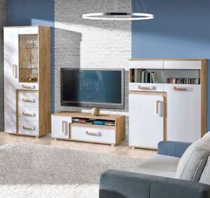 Das Bild Wird Geladen Moderne Wohnwand Apetito Anbauwand Wohnzimmer Set  Moebel Modern