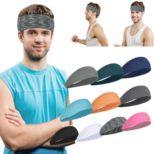 Mens Womens Stretch Sweatband Headband Yoga Gym Running Hair Band Wrap Head Band