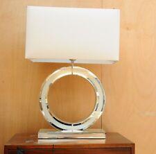 Saint Tropez Diamond Crush Modern Design O Large Table Lamp 69cm White Shade