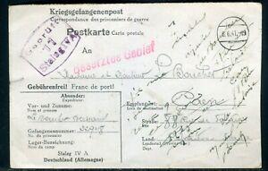 Carte De Correspondance D 'un Prisonnier Du Stalag Iv A Pour Caen En 1941