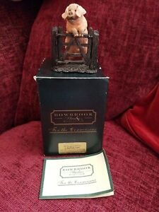 """BOWBROOK STUDIO'S """"PHIL"""" GLOUCESTER OLD SPOT PIG. No.1045 VGC BOXED 80MM TALL"""