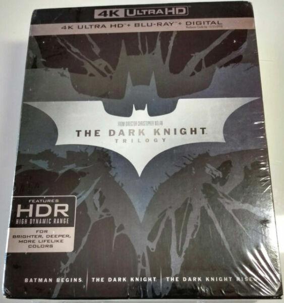 The Dark Knight Trilogy 4k Ultra Hd Blu Ray 2017 4k Ultra Hd Blu Ray For Sale Online Ebay