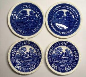 Antique-Copeland-Spode-039-s-Tower-Spode-Blue-Plate-And-Saucer