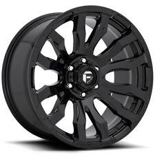 4 Fuel D675 Blitz 20x9 6x55 1mm Gloss Black Wheels Rims 20 Inch Fits More Than One Vehicle