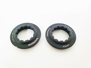 Shimano-Centerlock-Rotor-Lock-Ring-Black-Deore-SLX-XT-XTR-Ultegra-Rotors-JPN-x2