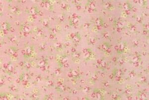 Cottage-Shabby-Chic-Quilt-Gate-RURU-Bouquet-Tiny-Roses-Fabric-RU2200Y-18B-BTY