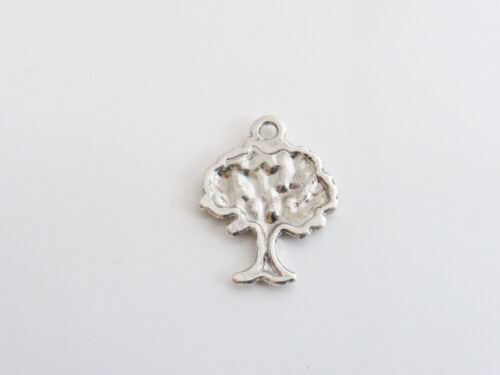 CPX7105 10 x Pretty Tree Charms Pendants Findings 22mm x 17mm Antique Silver