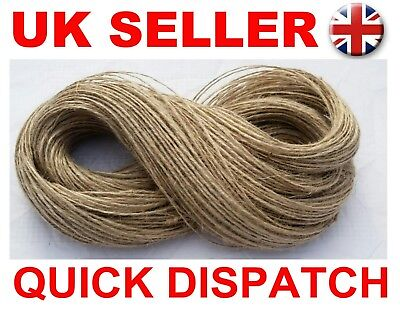 2-100m  2ply  Natural Strong Sisal Jute String Cord Hessian Rustic Cat Scratcher