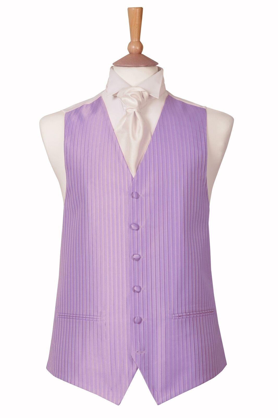 Lilac Shadow Stripe Waistcoat Extra Small 34