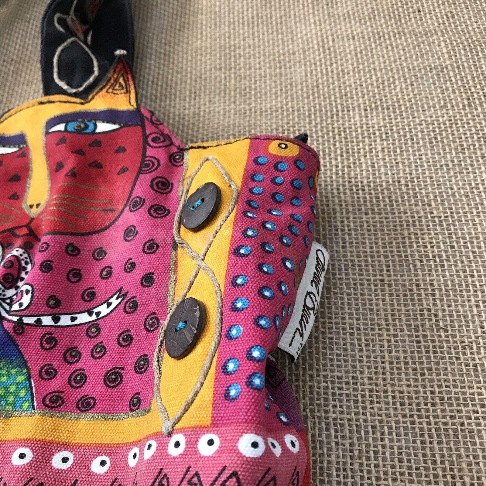 Laurel Burch Feline Cat Hand Bag Shoulder Bag Zip… - image 5