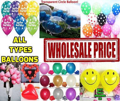 WHOLESALE 100pcs Clear Baloons Transparent Balloons Wedding /& Birthday Party UK
