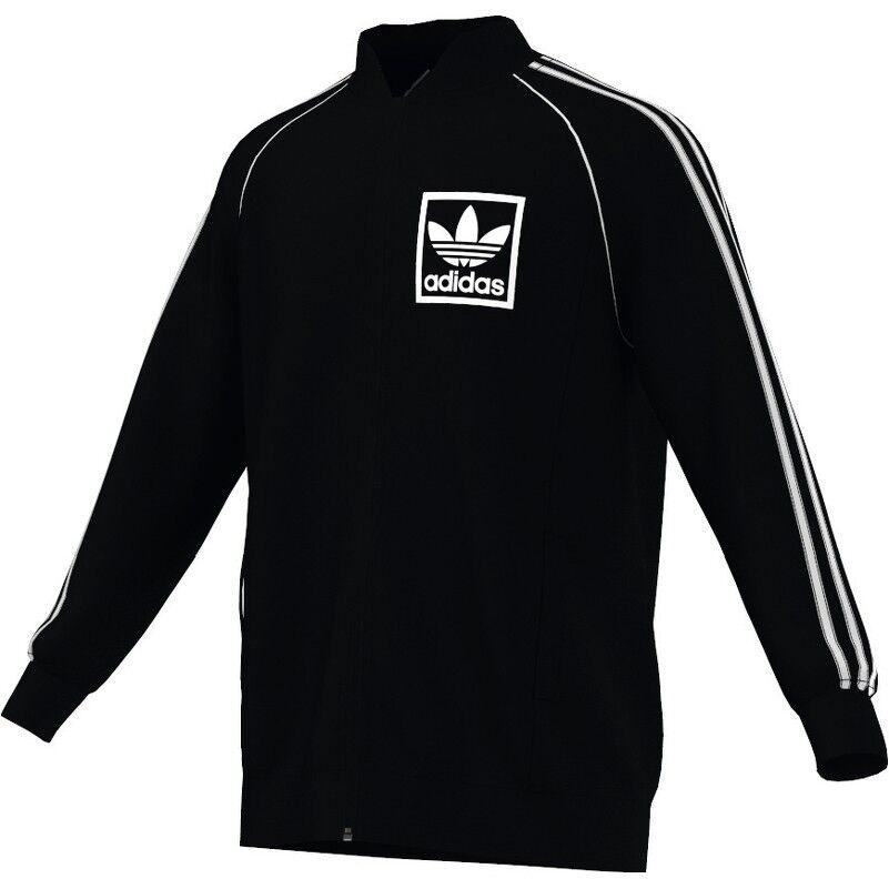 Adidas Originals 3FOIL SST TT Trainingsjacke Trainingstop schwarz