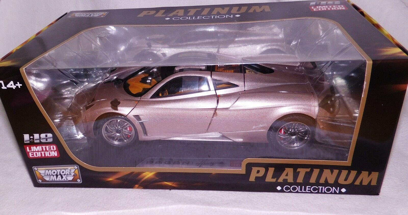 Motormax 1:18 metalmodell PAGANI HUAYRA Platinum Limited Edition-Neuf dans dans dans neuf dans sa boîte | à La Mode  b5a97d