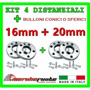 KIT 4 DISTANZIALI 16+20mm REPARTOCORSE AUDI TT 100/% MADE IN ITALY 8N