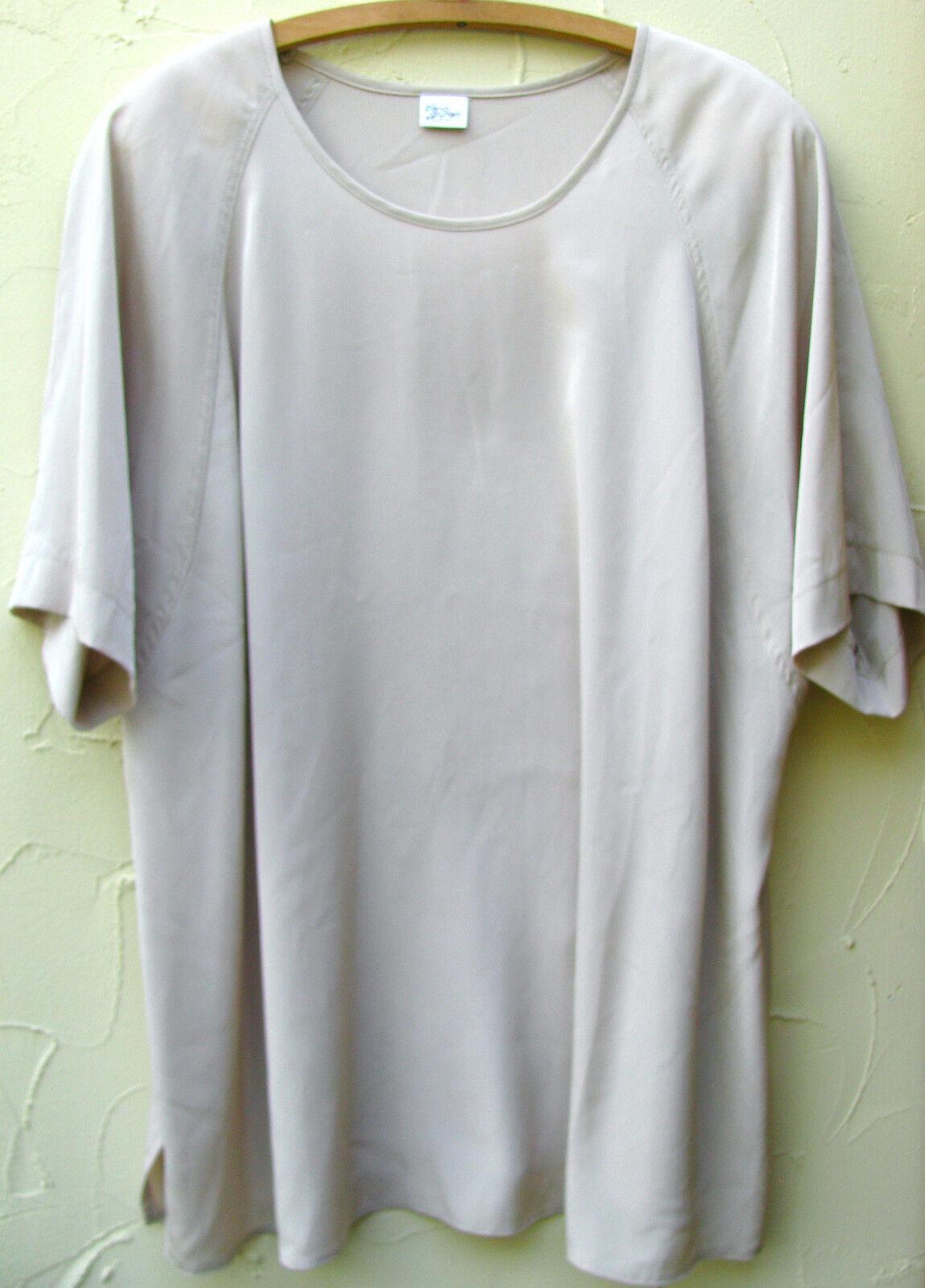 ELENA GRUNERT Shirt Blause Gr.52 Champagner Taupe Übergröße XL edel Beige Top