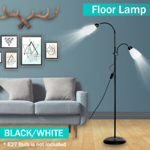 Modern Floor Standing Lamp Double Head Reading Light Adjustable Lampshade Home Ebay