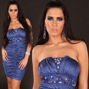Women-039-s-Club-Mini-dress-with-padded-cups-and-sequins-Party-Evening-Dress
