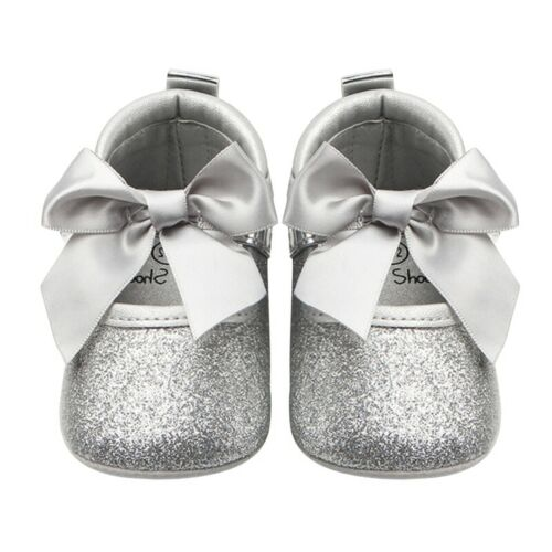 Toddler Girl Crib Shoes Newborn Baby Bowknot Soft Sole Prewalker Sneakers EZA