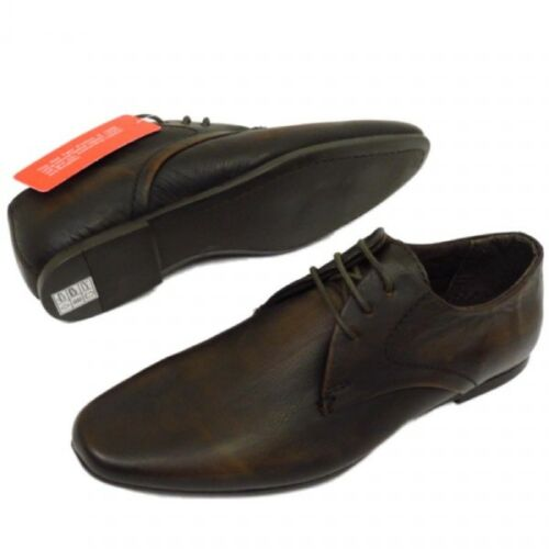 BOYS REAL LEATHER LOWMAN LACE-UP FORMAL WEDDING SMART SCHOOL LOAFER SHOES 1-6