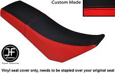 BLACK & RED AUTOMOTIVE VINYL CUSTOM FITS DERBI SENDA BAJA 125 DUAL SEAT COVER