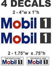 4 Mobil 1 Vinyl Decals