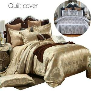 Luxury-Jacquard-Duvet-Quilt-Cover-3-Piece-Satin-Bedding-Set-Single-Double-King