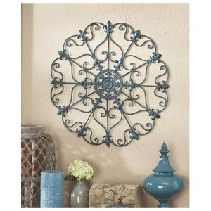 Image is loading Lightweight-Iron-Wall-Medallions-Indoor-Outdoor-Wall -Hanging-  sc 1 st  eBay & Lightweight Iron Wall Medallions Indoor / Outdoor Wall Hanging Metal ...