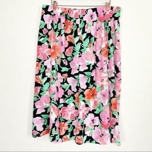 1980/'s Inspired A~line pastel green Nikki Skirt~ size 14~Made in Vietnam Travel Clothes No iron