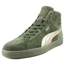 Puma Suede Mid Classic Men US 14 Green Sneakers