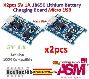 2pcs-5V-1A-Micro-USB-18650-Lithium-Battery-Charging-Board-Charger-Module