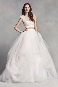 Image Is Loading White By Vera Wang Wedding Dress Two Pieces