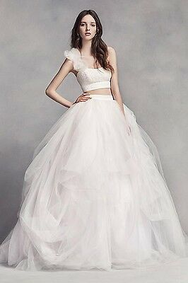 White by Vera Wang Wedding Dress | Two Pieces Boho Chic Ball Gown | Size 6  435100000917 | eBay
