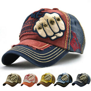 Image is loading Pentagram-Embroidery-Vintage-Distressed-Men-Baseball-Cap- Dad- c1d7042b059