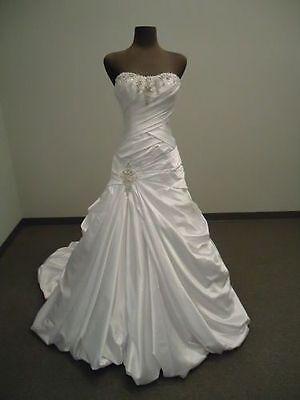 New White/Ivory Wedding Dress Bridal Gown stock size :6-8-10-12-14-16