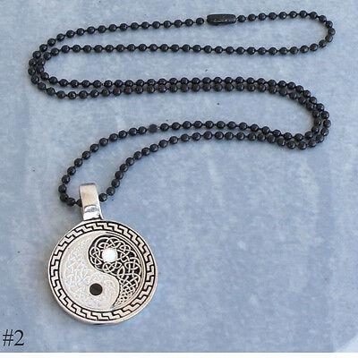 Yin Yang Celtic Knot Norse Viking Taoism Pagan New Age Silver Pewter Pendant
