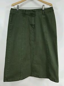 3cb5c700a Image is loading Christopher-amp-Banks-Green-Stretch-Long-Skirt-Size-
