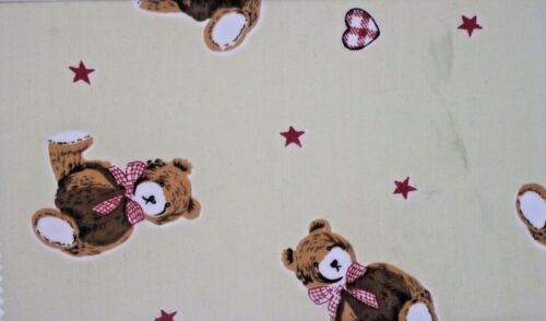 Teddy Bear  Poly Cotton Fabric  For Children Size 112cm Width