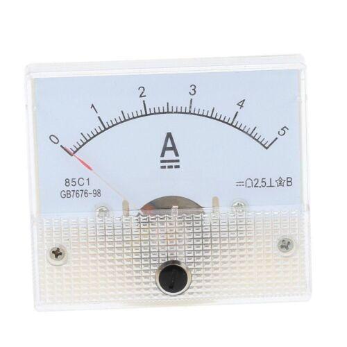 85C1-A 85C1 5A Analog Panel AMP Current Meter Ammeter Gauge Tester