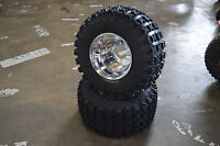 Yamaha Raptor 660 Boss Racing 6ply Wheel Tire Package 22x10x10 Polished Rims