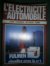 Citroën BX diesel turbo : Fiche technique L'électricité Automobile n° 582