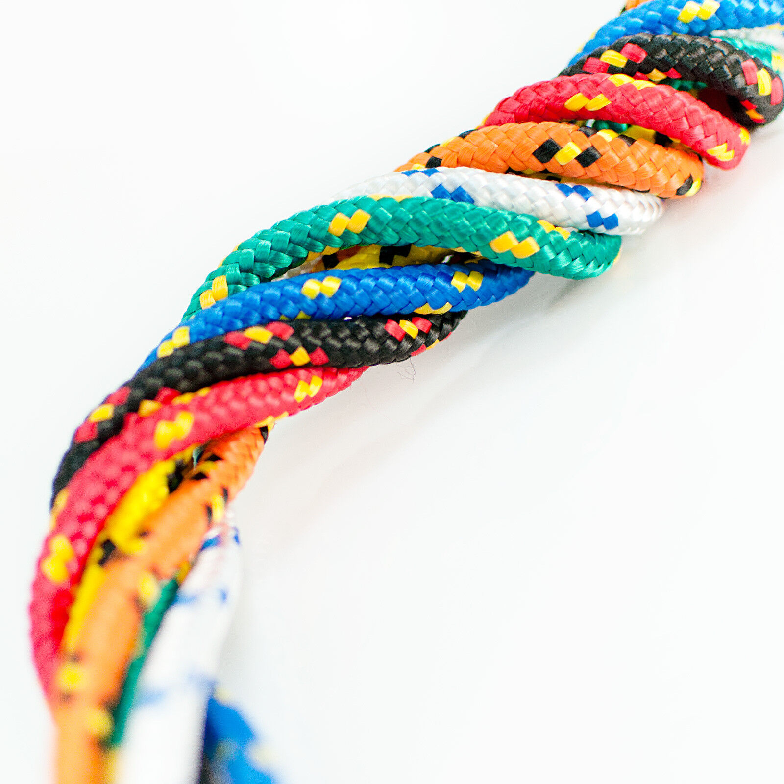 14mm POLYPROPYLENE ROPE braided polyrope weatherproof UV-stable synthetic fibre