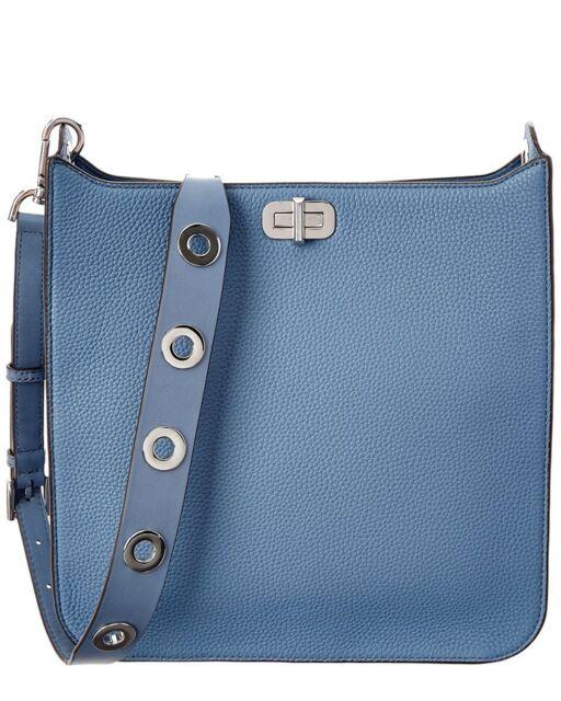 e1c603d5d539 Michael Kors Sullivan Large Leather Messenger Bag - Denim - 30H6SUPM3L-405