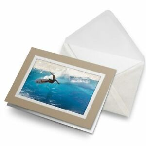 Greetings-Card-Biege-Cool-Surfer-Dude-Wave-Surf-2459
