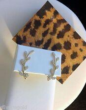 Flower Vine Climbing Earrings-Ear Crawler-Pin-14 KT Gold Plated Sterling Silver
