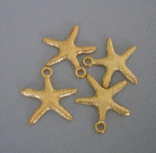 10pcs. Starfish Gold Plated  Pendant Charm